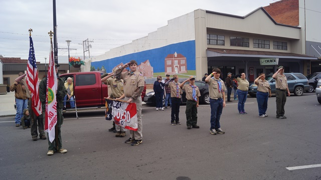 one boyscout salute