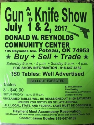Gun and Knife Show coming to Poteau