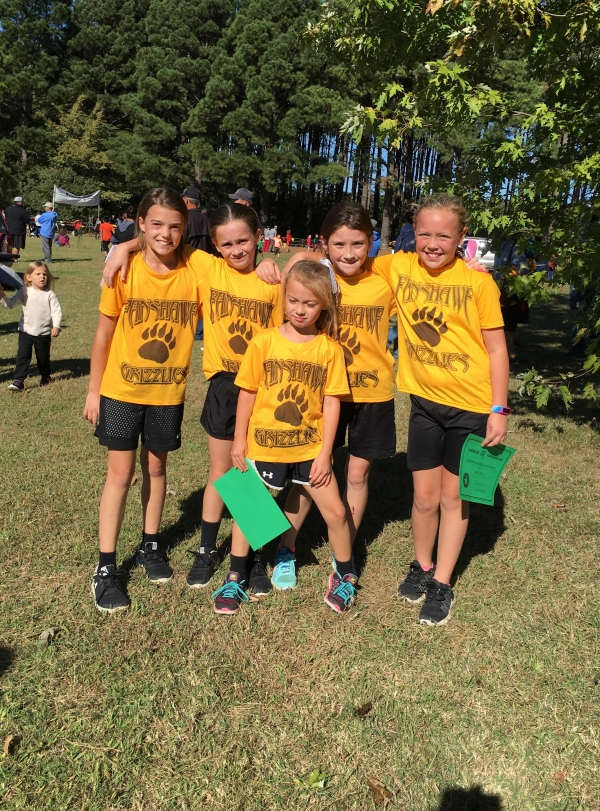 4th grade girls placed 2nd in the Relay Race