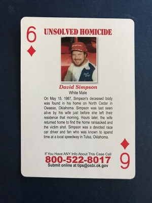 Cold Case Playing Cards - Owasso Homicide