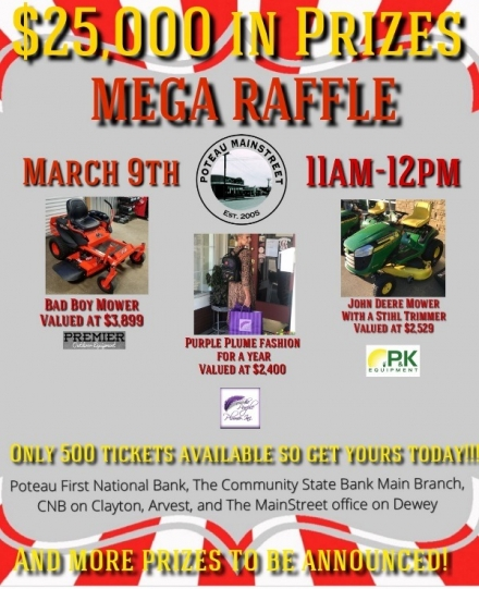 Mega Raffle - Poteau Main Street is investing in you