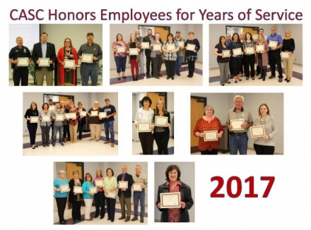 CASC Honors Employees for Years of Service