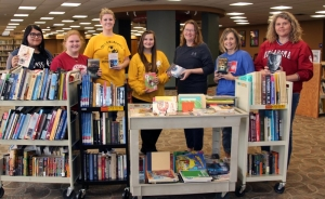Carl Albert State College Book Drive for Cameron School