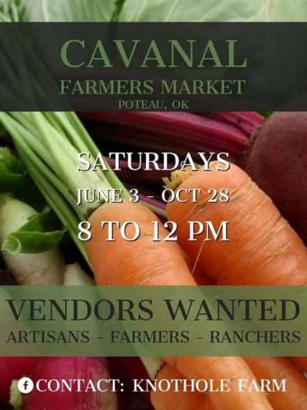 Get ready for the Cavanal Farmers Market coming in June
