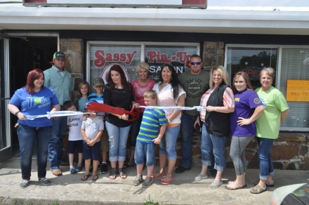 Poteau Chamber of Commerce welcomes Sassy Pin Up with ribbon cutting