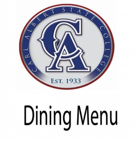 CASC Dining Menu for October 3rd