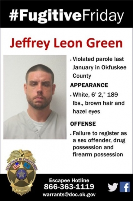ODOC #FugitiveFriday: Jeffrey Leon Green