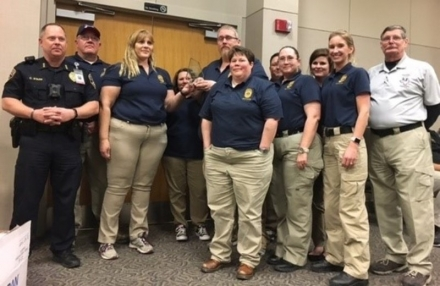 ODOC's Crisis Negotiation Team poses for a photo with their trophy from an annual competition held last month at Texas State University in San Marcos, Texas. The team placed fifth overall out of 28, but was the highest correctional team to place in the competition.